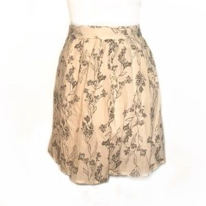 Old navy pleated cotton circle floral skirt